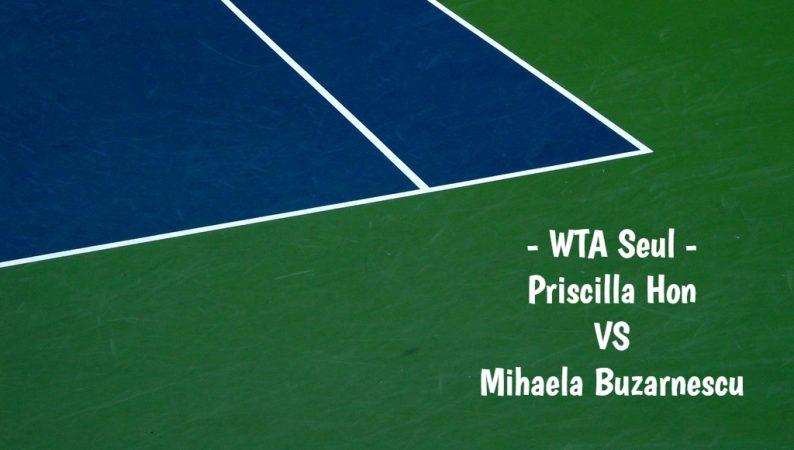 Priscilla Hon vs Mihaela Buzarnescu WTA Seoul  17.09.2019
