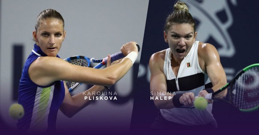 Karolina Pliskova vs Simona Halep WTA Finals Shenzhen 01.11.2019